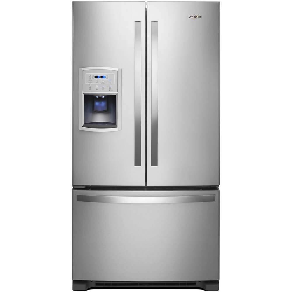 'Whirlpool Fingerprint Resistant Stainless Steel Counter-Depth French Door Refrigerator'