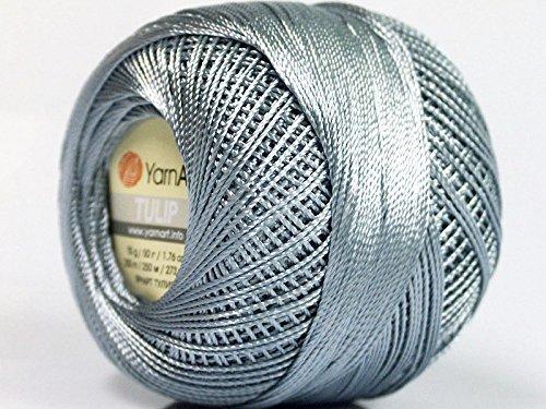 Grey - Yarn Art Tulip Size 10 Microfiber Thread - 50 Gram 17311