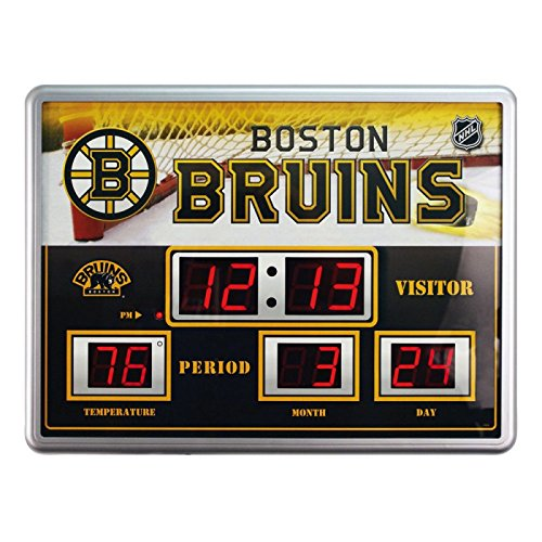 Team Sports America 14''x19'' ScoreBoard/Clock/Therm (NG)-Boston Bruins by Team Sports America