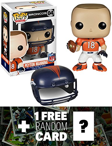 Peyton Manning - Broncos: Funko POP! x NFL Vinyl Figure + 1 FREE Official NFL Trading Card Bundle [45340] by Funko