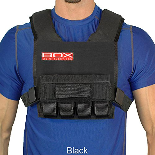 Weighted Short Training - 20 Lb. BOX Super Short -Weight Vest (Black)