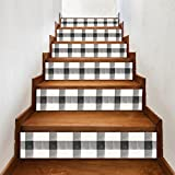 TAOtTAO 6Pcs Staircase Stair Riser Floor Sticker DIY Wall Decal Fashion Stairs Decal (C)