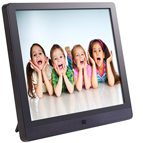 Pix-Star 15 Inch Wi-Fi Cloud Digital Photo Frame FotoConnect XD with Email, Online Providers, iPhone & Android app, DLNA and Motion Sensor (Black) (Star Attachment)