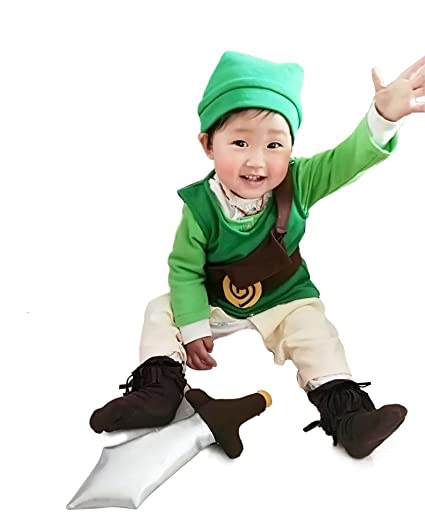 Amazon.com: Miccostumes Baby\'s Link Cosplay Costume (Child Large ...