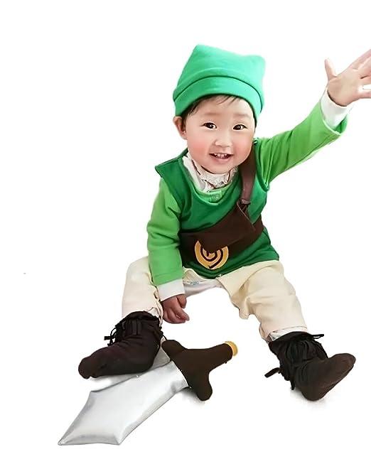 amazoncom miccostumes babys the legend of zelda link cosplay costume clothing