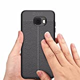 MODIK All Side Full Protection Auto Focus Shock Proof Leather Pattern Armor Soft Back Case / Cover For Samsung Galaxy C7 Pro - Black [MADE IN INDIA]