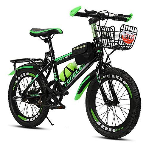 - FJW Unisex Mountain Bike 18 Inch 20 Inch 22 Inch High-Carbon Steel Single Speed Aluminium Alloy Hardtail Lightweight Disc Student Child Commuter City Bike,Green,20Inch