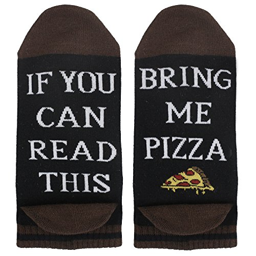 Women Funny If You Can Read This Novelty Cotton Food Pizza Low Cut Socks