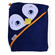 Extra Large 40 x30  Absorbent Hooded Towel, Frenchie Mini Couture (dark blue)