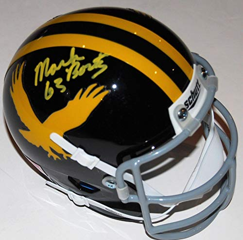 - Autographed Mark Bortz Helmet - IOWA HAWKEYES Throwback mini W COA - Autographed NFL Helmets