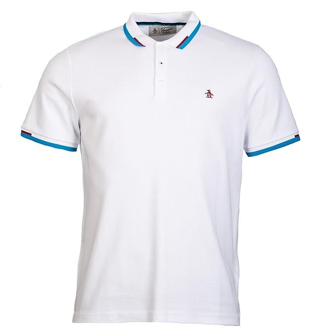 Original Penguin Rib. Inter Polo Shirt Bright White-M: Amazon.es ...