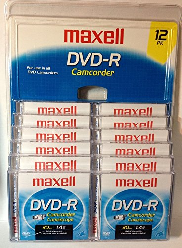 Maxell DVD-R Camcorder Discs - 12 Pack for sale  Delivered anywhere in USA