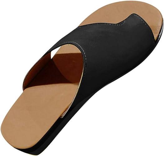 Women Ladies Orthopaedic LEATHER Mule Sandal Slip on Wedge Shoe Size