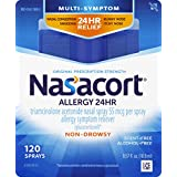 Nasacort Allergy 24 Hour Nasal Spray, 120 Sprays (0.57 fl. Ounce), Provides Relief for Allergy Symptoms Including Nasal Congestion, Sneezing, Runny Nose, Itchy Nose, Alcohol and Scent Free Nasal Spray