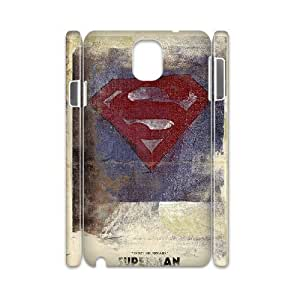 3D {Superman Series} Samsung Galaxy Note 3 Case Superman Vantage Poster, Case Bloomingbluerose - White