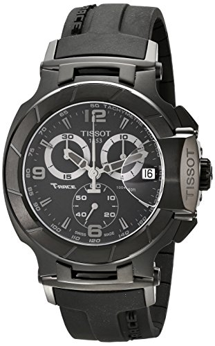Tissot Men's T0484173705700 T-Race Stainless Steel Black Wat