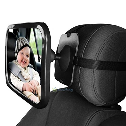 New Baby Mirror Back Car Seat Cover for Infant Child Toddler Rear Ward Safety View (Dangling Safety Pin)