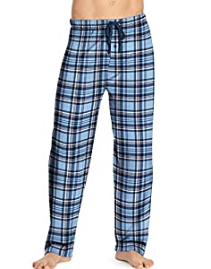 Hanes Men's Logo Woven Plaid Pants