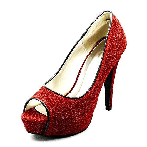 sendit4me - Botas para mujer Rojo rojo