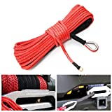 Semisynthetic Windlass Leash Synthetic Winch Rope Car Repair Equipments - 7000lb Synthetic Fiber Winch Rope Tow Cable Atv Suv Road - Man-Made Synthetical Celluloid Inflectional - 1PCs