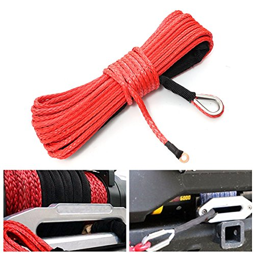 Semisynthetic Windlass Leash Synthetic Winch Rope Car Repair Equipments - 7000lb Synthetic Fiber Winch Rope Tow Cable Atv Suv Road - Man-Made Synthetical Celluloid Inflectional - 1PCs by Unknown
