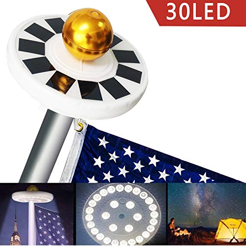 Best Solar Powered Flagpole Light in US - 7