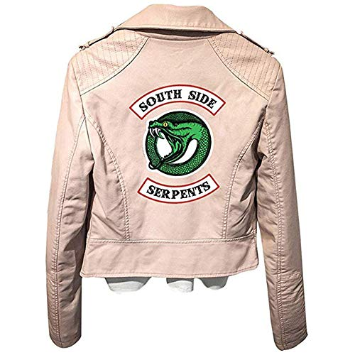 Damaiy Riverdale Betty Leather Jacket Southside Serpents Gang Biker Women Ladies Coat