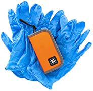 Gloves Travel case with 5 Pairs of Nitrile Gloves (Orange)