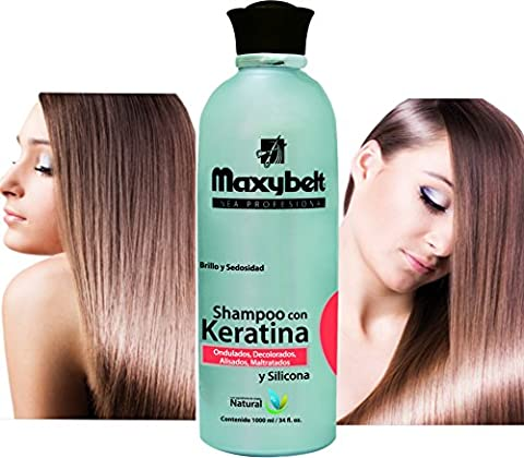 MAXIBELT-Keratina Shampoo 1000gr/ 33.3oz Shampoo protector de keratina (Como Repara)