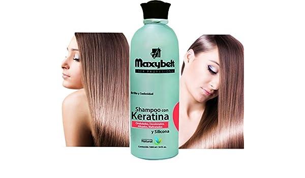 Amazon.com : MAXIBELT-Keratina Shampoo 1000gr/ 33.3oz Shampoo protector de keratina : Beauty