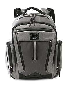 Amazon.com : Eddie Bauer Back Pack Diaper Bag, Grey