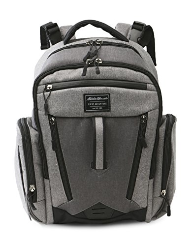 Eddie Bauer Back Pack Diaper Bag, Grey Heather (Best Backpacks Brands List)