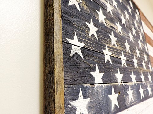 Reclaimed wood American Flag Full Size Barnwood 3 foot X 5 foot
