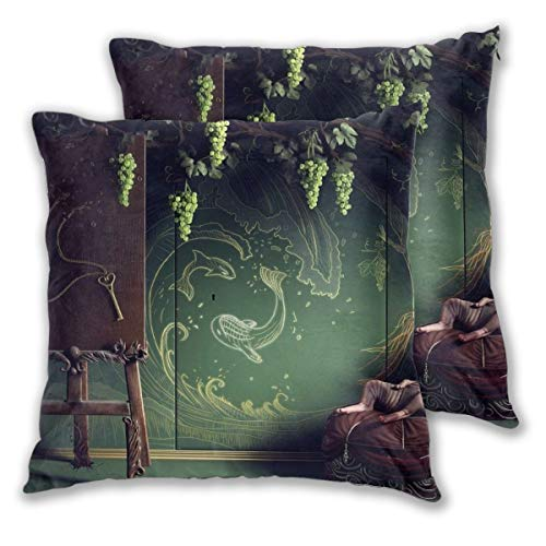 Diemeouk Throw Square Pillows Set of 2,Cushion Lonely