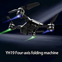 Cewaal Upgraded YH-19 Folding Quadrocopter Drone with 720P Camera Live Video, Track Fight 3D Roll Cool Led Light Altitude Hold Advanced RC Flying Drone For Adults