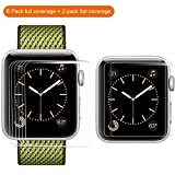 [8 PACK] For Apple Watch Screen Protector 42mm Series 3 2 1 ,MARGE PLUS HD Anti-Scratch Bubble Free Film Accessories For iWatch 42mm [6 PACK+2PACK Compatible With Case]