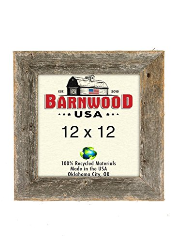 12 Wood Picture Frame Frames - BarnwoodUSA Rustic 12 by 12 Wooden Photo Frame - 100% Reclaimed Wood