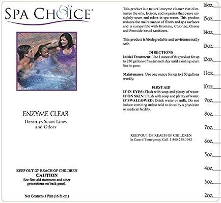 Amazon.com: SPA elección enzima clara Solución de limpieza ...