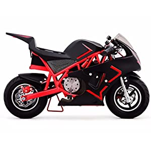 4-Stroke 40CC Kids Gas Pocket Bike (EPA Registered, NO CA sales), Red/Black