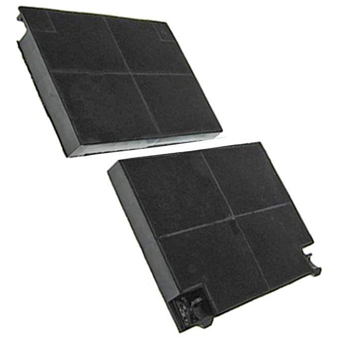 Pack Of 2, CHF037, 235 x 29 mm Spares2go Type 48 Charcoal Carbon Filter For IKEA Cooker Hood Vent