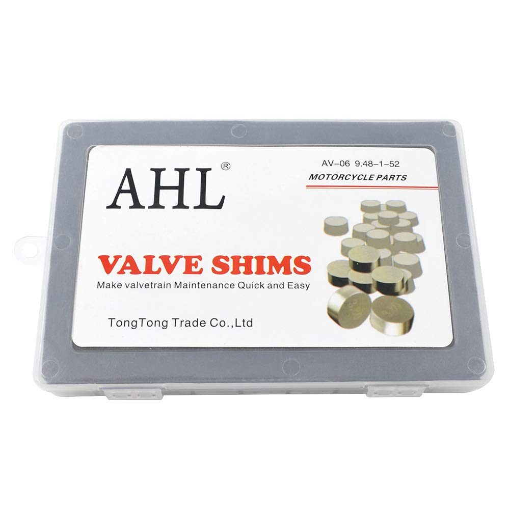 AHL Adjustable Valve Shim Kit 9.48mm O.D. 1.20mm-4.00mm Thick for Suzuki RMZ450 2005-2012 (44pcs)