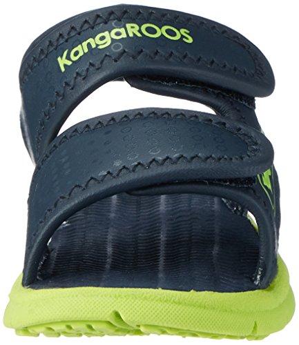 KangaROOS Unisex-Kinder KIS Ii Sandalen Blau (Dk Navy/Lime)