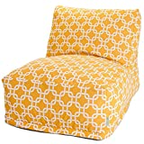Majestic Home Goods Yellow Links Bean Bag Chair Lounger