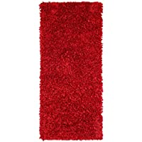 Red Shimmer Shag (2x5) Runner