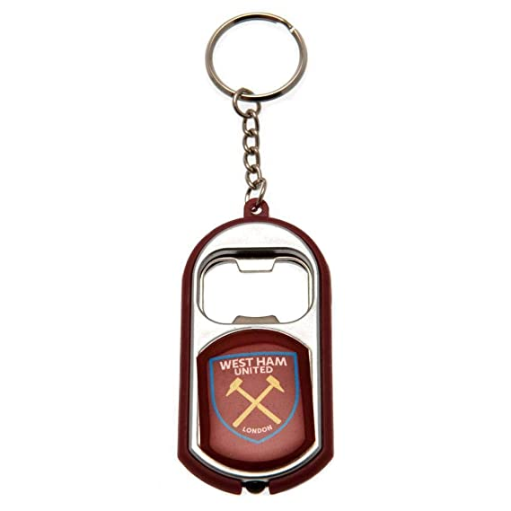 West Ham Football Club Bottle Opener Keyring With Torch ...