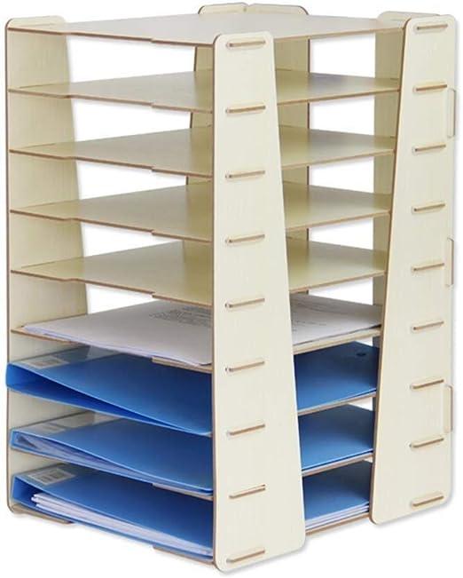 LJFYMX bandeja folios Organizador de escritorio escritorio ...