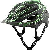 Troy Lee Designs A2 MIPS Helmet Pinstripe Black/Green, M/L For Sale