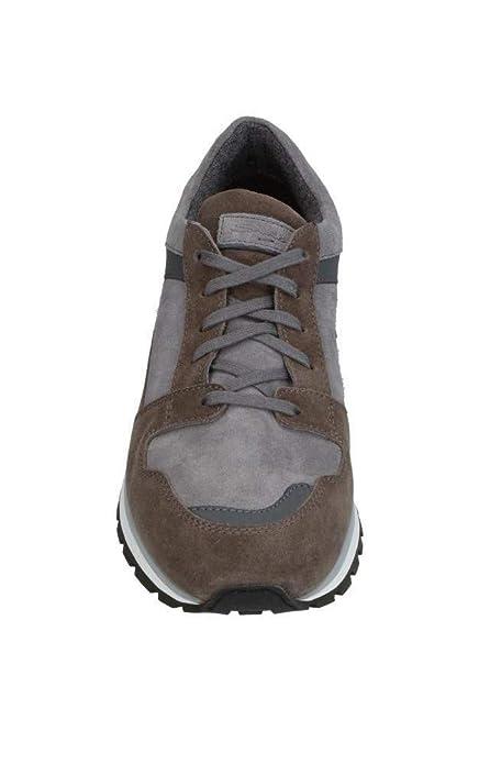 SANTONI - Zapatillas de Cuero para Hombre Beige TóRTOLA: Amazon.es: Zapatos y complementos