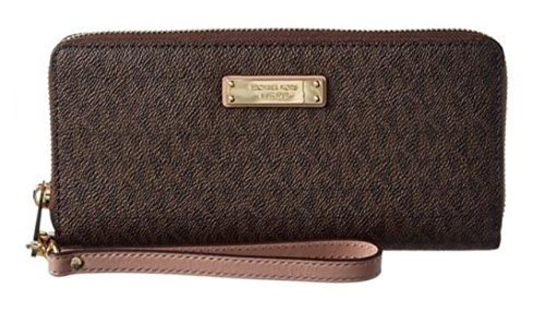 Michael Kors Womens Jet Set Signature Travel Continental Brown/Fawn Wallet 32S7GTTE9V-253 by MICHAEL Michael Kors