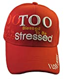 Youth Kid's Religious - I Love Jesus, Christian Baseball Cap Style Hat (Too Blessed - Red)